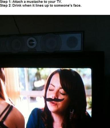 drinking_game game humor mustache photo television // 500x585 // 47.1KB