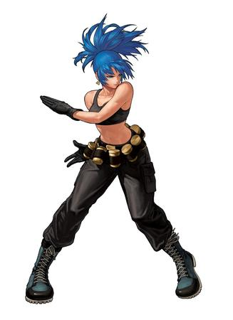 blue_eyes blue_hair boots gloves ponytail tank_top // 1000x1377 // 84.8KB