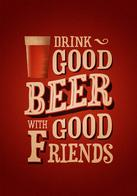 beer friends macro poster // 500x714 // 151.3KB