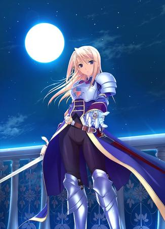 agrias armor blonde fft final_fantasy gauntlets long_skirt moon skirt sword // 800x1103 // 100.9KB
