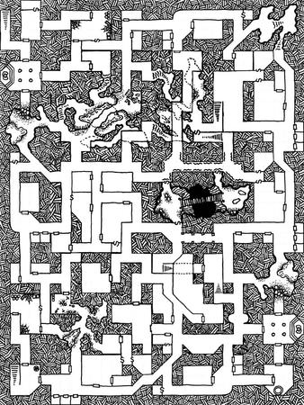 bw dungeon map // 900x1200 // 1.3MB