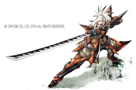 armor blue_eyes greaves guantlets katana oversized_weapon paudrons sword white_hair // 1500x996 // 620.0KB