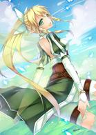braids elf fairy green_eyes lyfa ponytail shorts sword_art_online wings // 1200x1697 // 390.0KB