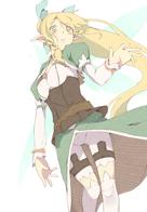 braids elf fairy green_eyes lyfa ponytail shorts sketch sword_art_online // 2102x3023 // 3.2MB