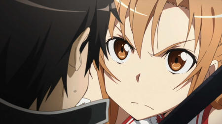 asuna brunette kirito screenshot sword_art_online // 1280x720 // 98.0KB
