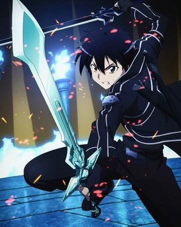 brunette gloves jacket kirito sword sword_art_online // 820x1024 // 134.7KB