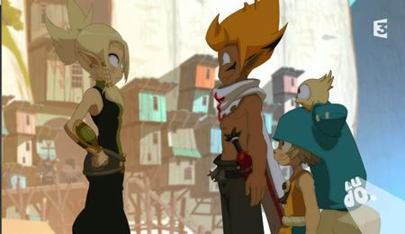 blonde cleophee cra elf green_eyes hat iop sadlygrove screenshot sword wakfu yugo // 918x531 // 819.8KB