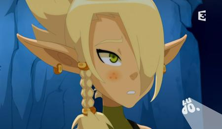blonde braids cleophee cra elf green_eyes reaction screenshot wakfu // 909x530 // 469.6KB