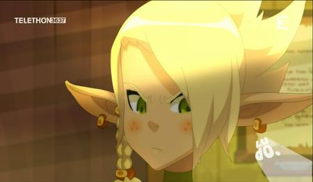 blonde braids cleophee cra freckles green_eyes reaction screenshot wakfu // 913x532 // 545.9KB
