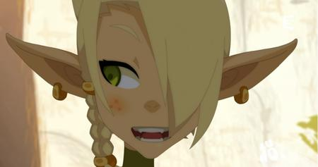 blonde braids cleophee cra green_eyes reaction screenshot wakfu // 912x480 // 445.7KB