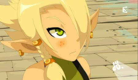 blonde braids cleophee cra freckles green_eyes reaction screenshot wakfu // 914x531 // 509.8KB
