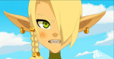 blonde braids cleophee cra freckles green_eyes reaction screenshot wakfu // 913x479 // 426.2KB