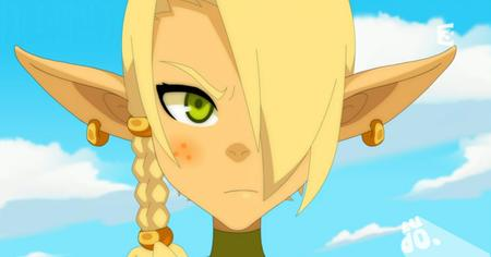blonde braids cleophee cra freckles green_eyes reaction screenshot wakfu // 911x477 // 415.8KB