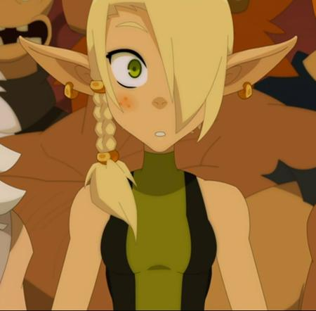 blonde braids cleophee cra freckles green_eyes reaction screenshot wakfu // 538x529 // 284.5KB