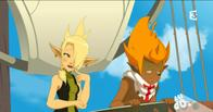 blonde braids cleophee cra elf green_eyes iop sadlygrove screenshot wakfu // 911x481 // 567.2KB