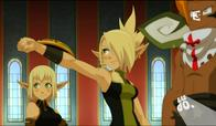 blonde braids cleophee cra elf evangeline green_eyes iop sadlygrove screenshot wakfu // 915x534 // 737.8KB