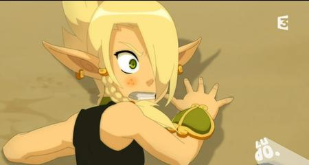 blonde braids cleophee cra elf green_eyes reaction screenshot wakfu // 909x484 // 395.3KB