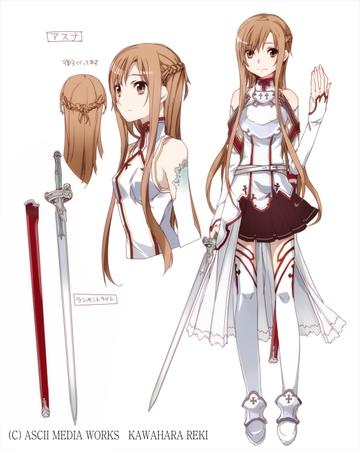 asuna braids breastplate composite long_hair short_skirt skirt sword sword_art_online thighhighs // 560x700 // 175.5KB