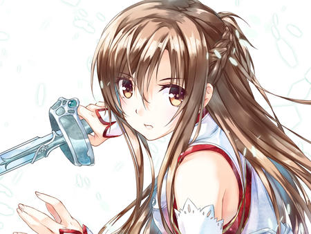 asuna braids breastplate long_hair sword sword_art_online // 1200x900 // 322.5KB