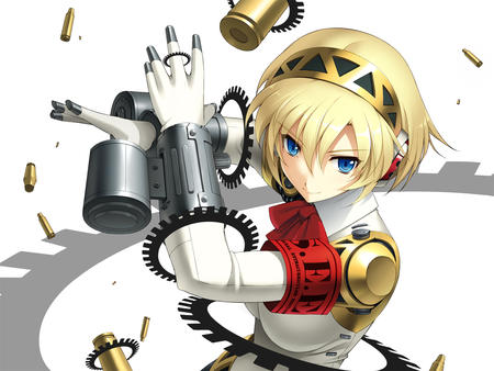 aegis blonde blue_eyes cyborg persona // 1280x960 // 523.7KB