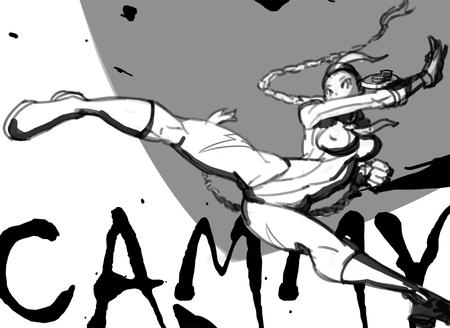 boots braids bw cammy gloves hat sketch street_fighter // 1000x729 // 201.0KB
