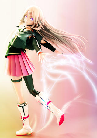 blonde boots cg long_hair short_skirt skirt // 1800x2540 // 2.4MB