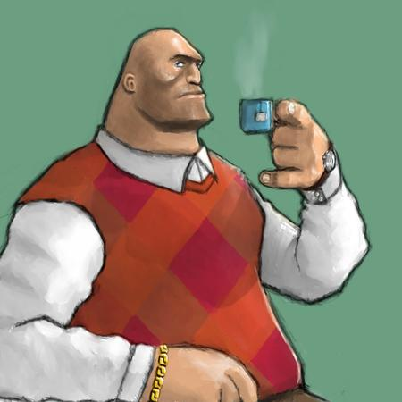 bald heavy reaction sweater_vest tea team_fortress vest // 900x900 // 73.9KB