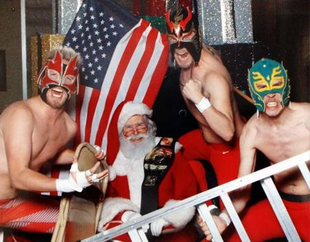 beard flag group ladder luchador mask photo santa // 499x390 // 49.1KB