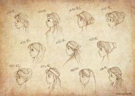 chart composite greek hair monochrome sketch // 1698x1200 // 796.1KB