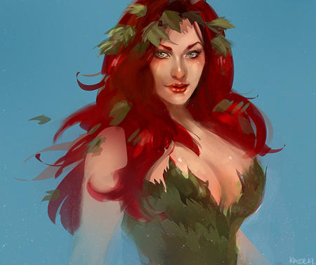 blue_eyes cleavage dc poison_ivy redhead // 796x666 // 376.0KB