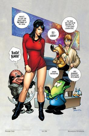 blue_eyes boots brunette comic dress frank_cho klingon liberty_meadows star_trek vulcan // 783x1200 // 164.4KB