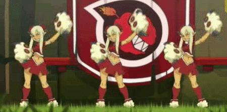 animated blonde cheerleader cra short_skirt skirt wakfu wink // 464x230 // 1.7MB