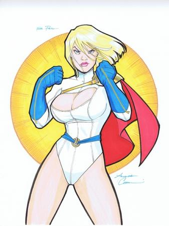 amanda_conner blonde blue_eyes cape cleavage dc gloves oppai power_girl // 500x668 // 208.5KB