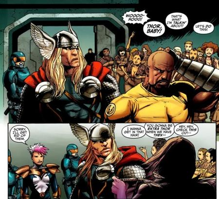 comic humor luke_cage marvel thor thunderbolts // 500x454 // 120.8KB