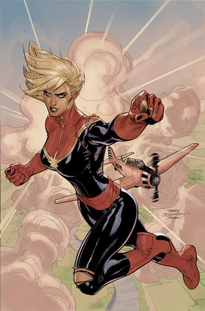 blonde blue_eyes boots captain_marvel gloves ms_marvel ripped_clothes terry_dodson // 700x1060 // 307.8KB