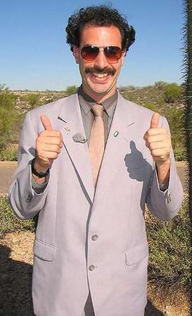 borat mustache necktie photo suit // 300x495 // 31.0KB