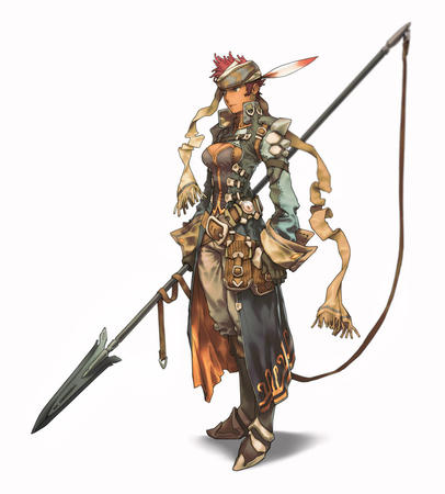 cleavage dbg gloves jacket redhead scarf spear // 849x941 // 99.2KB