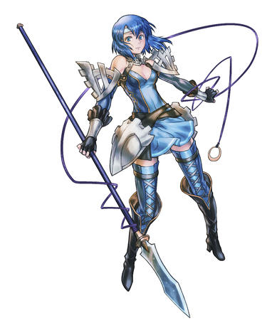 blue_eyes boots dress fire_emblem gloves high_heels spear thighhighs // 2832x3400 // 788.5KB