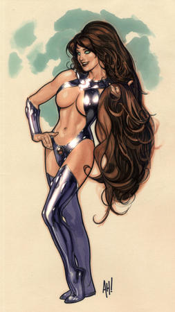 adam_hughes boots cleavage dc long_hair redhead starfire // 690x1228 // 709.2KB