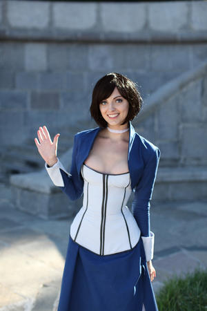 bioshock blue_eyes brunette dress elizabeth photo // 500x750 // 155.4KB