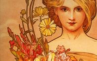art_nouveau blonde flower mucha // 1680x1050 // 297.1KB