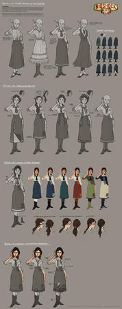 bioshock boots brunette character_design composite dress elizabeth skirt // 1000x2535 // 350.0KB