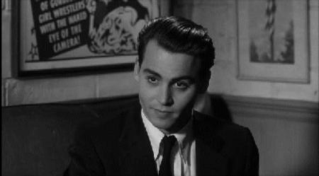 animated bw ed_wood johnny_depp reaction screenshot // 400x221 // 1.2MB