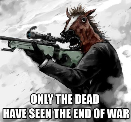gloves horse humor macro rifle sniper war // 500x467 // 190.8KB