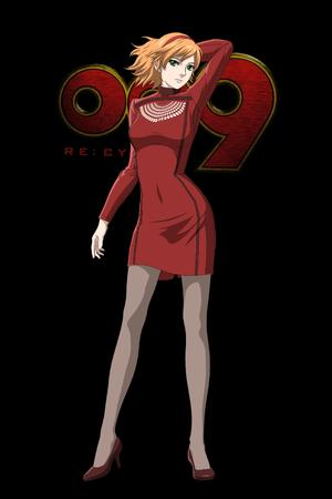 blonde cyborg_009 dress green_eyes high_heels // 2333x3500 // 557.2KB