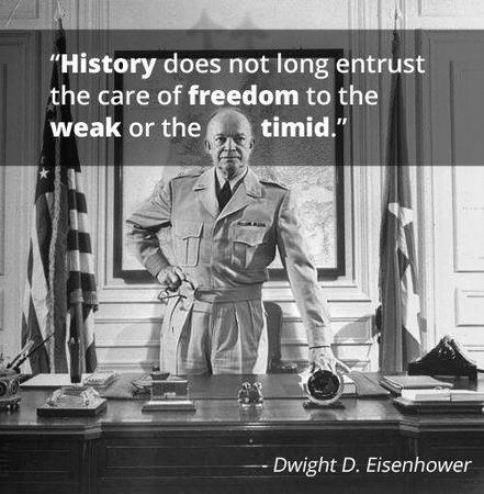 america bw eisenhower freedom photo quote republican timid // 500x510 // 50.7KB