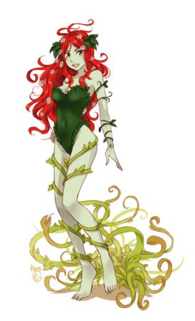 barefoot cleavage dc flower meago poison_ivy redhead // 591x969 // 353.4KB