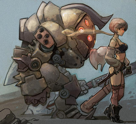 bioshock blonde boots gloves mecha scarf thighhighs // 1400x1282 // 1.7MB