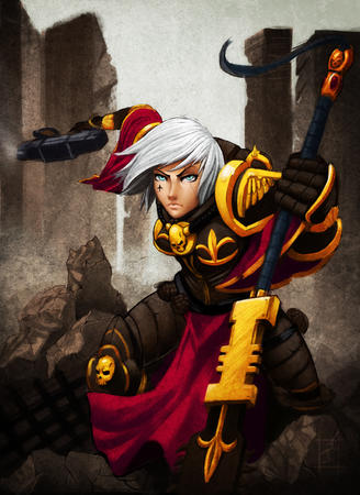 adeptus_sororitas armor blonde blue_eyes gun wh40k white_hair // 612x840 // 487.4KB