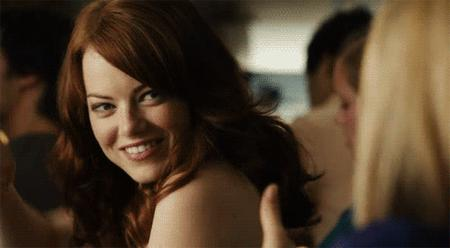 animated emma_stone reaction redhead thumbs_up // 500x275 // 495.0KB